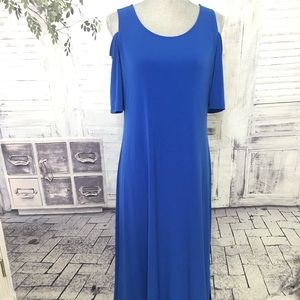 Chico's Brilliant Blue Cold Shoulder Dress